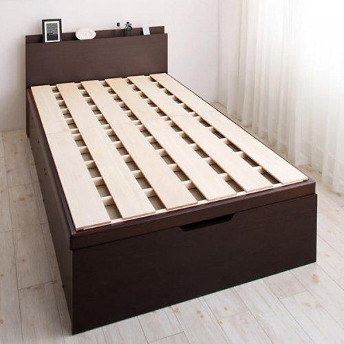耐荷重600kg!頑丈設計の跳ね上げ式収納ベッド【BRG】 【2】