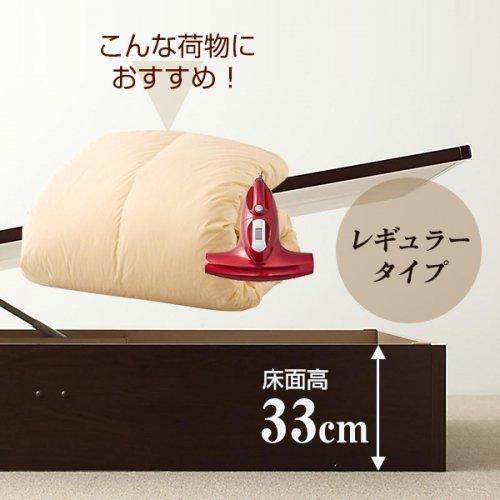 耐荷重600kg!頑丈設計の跳ね上げ式収納ベッド【BRG】 【5】