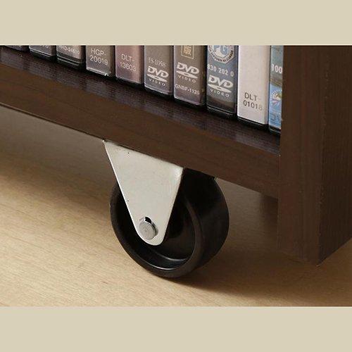 本棚付き跳ね上げ式大容量収納ベッド【MNI】(横開き) 【4】