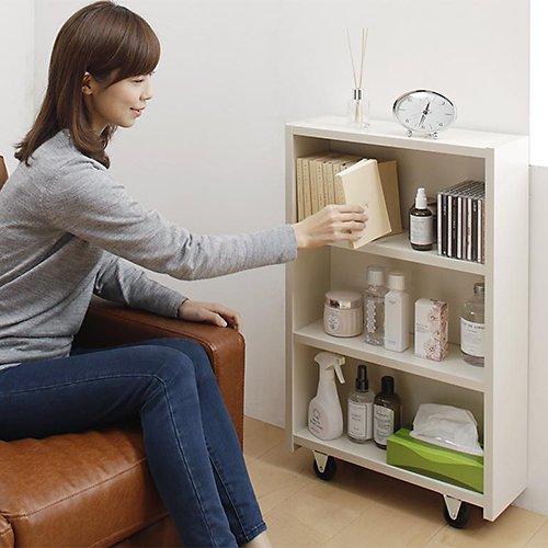 本棚付き跳ね上げ式大容量収納ベッド【MNI】(横開き) 【6】