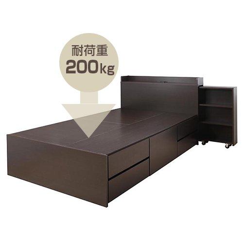 本棚付き大容量収納チェストベッド【EVI】 【22】