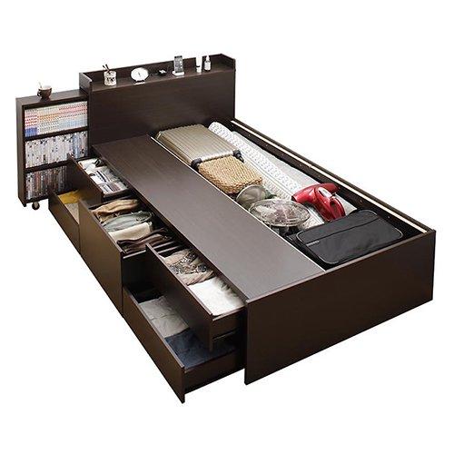 本棚付き大容量収納チェストベッド【EVI】 【8】