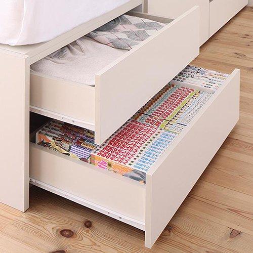 本棚付き大容量収納チェストベッド【EVI】 【9】