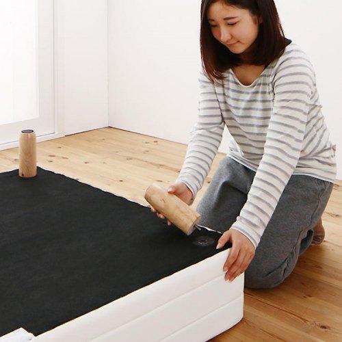 ショートサイズ2分割マットレスベッド(ボンネルコイルマットレス) 【11】