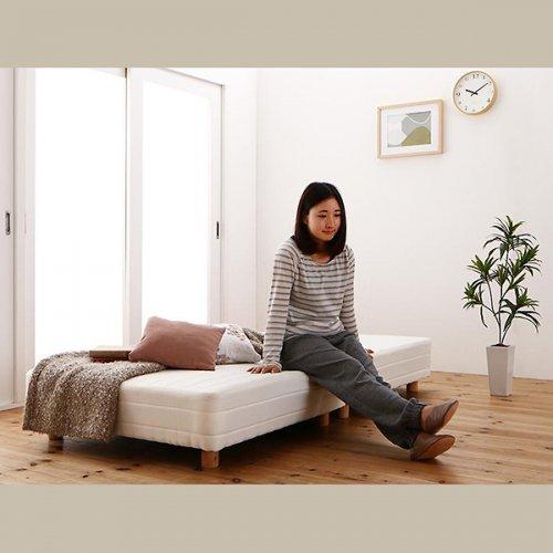 ショートサイズ2分割マットレスベッド(ボンネルコイルマットレス) 【6】