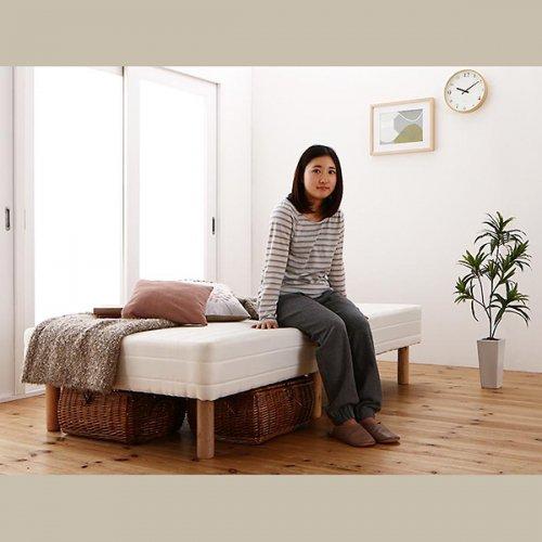 ショートサイズ2分割マットレスベッド(ボンネルコイルマットレス) 【8】