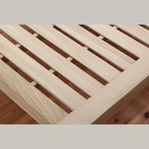 ワイドに組み合わせできる総桐製ナチュラルベッド【KMK】(すのこ仕様) 【11】