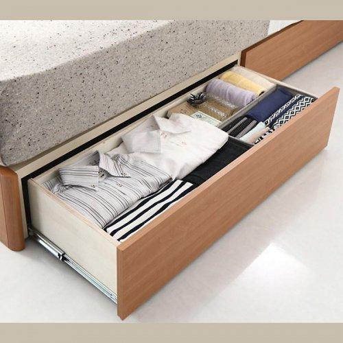 アルダーデザインラージサイズ収納ベッド【HRM】 【13】