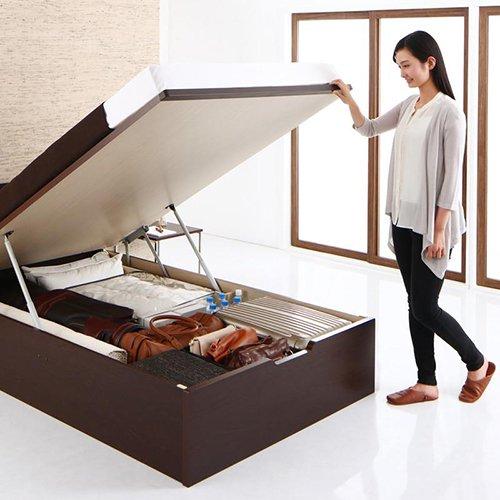 ラージサイズ跳ね上げ式大容量収納ベッド【CRV】(ヘッドボードレス) 【3】