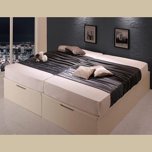 ラージサイズ跳ね上げ式大容量収納ベッド【CRV】(ヘッドボードレス) 【4】