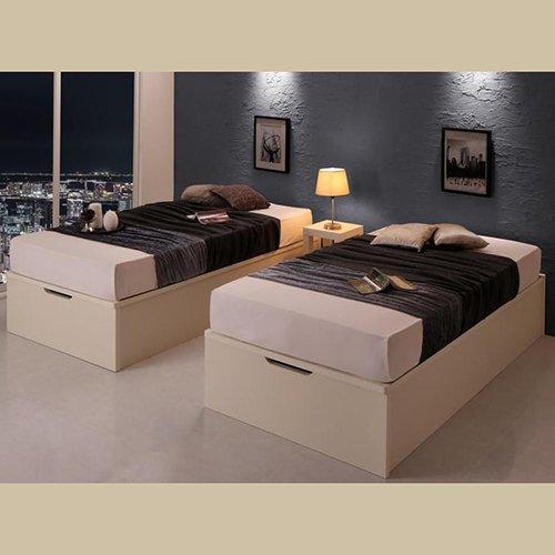 ラージサイズ跳ね上げ式大容量収納ベッド【CRV】(ヘッドボードレス) 【5】
