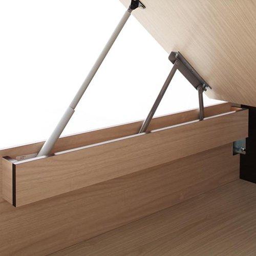 ラージサイズ跳ね上げ式大容量収納ベッド【CRV】(ヘッドボードレス) 【6】