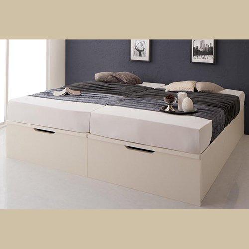 ラージサイズ跳ね上げ式大容量収納ベッド【CRV】(ヘッドボードレス) 【9】