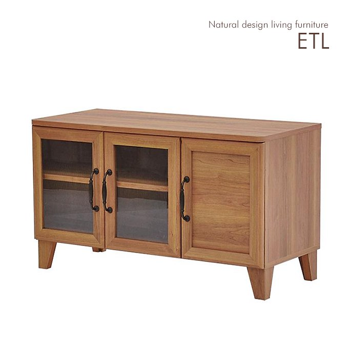 ナチュラル感のある木目調デザイン!リビング収納【ETL】テレビボード幅90cm