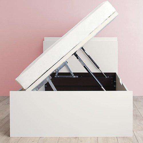 180cmショート丈跳ね上げ式大容量収納ベッド【AVR】(横開き) 【4】