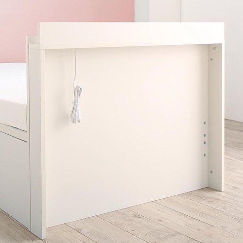 180cmショート丈跳ね上げ式大容量収納ベッド【AVR】(横開き) 【5】