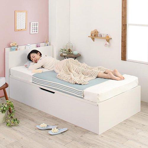 180cmショート丈跳ね上げ式大容量収納ベッド【AVR】(横開き) 【9】