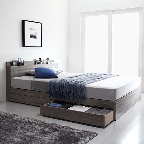 床板が通気性の良いすのこ仕様!6色展開の収納ベッド【GBS】 【2】