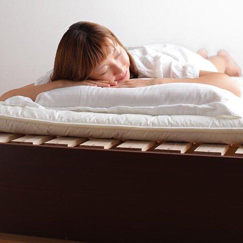 床板が通気性の良いすのこ仕様!6色展開の収納ベッド【GBS】 【4】