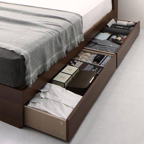 床板が通気性の良いすのこ仕様!6色展開の収納ベッド【GBS】 【9】