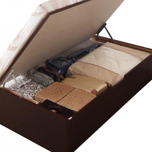 〈組立設置サービス付き〉日本製・安心の品質!ヘッドボードレス跳ね上げ式収納ベッド【RGL】(横開き) 【2】