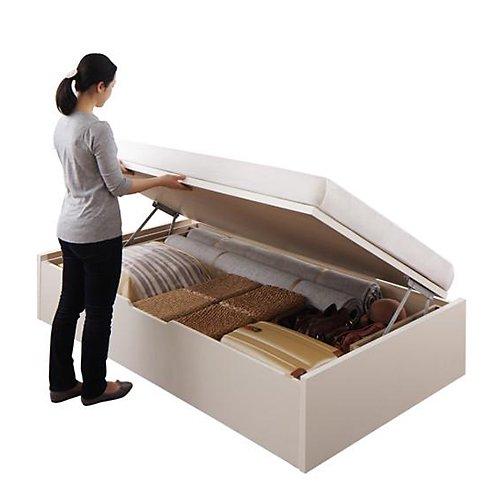 〈組立設置サービス付き〉日本製・安心の品質!ヘッドボードレス跳ね上げ式収納ベッド【RGL】(横開き) 【15】