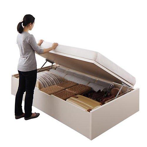 〈組立設置サービス付き〉日本製・安心の品質!ヘッドボードレス跳ね上げ式収納ベッド【RGL】(横開き) 【16】