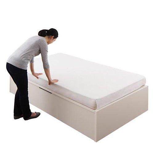 〈組立設置サービス付き〉日本製・安心の品質!ヘッドボードレス跳ね上げ式収納ベッド【RGL】(横開き) 【17】