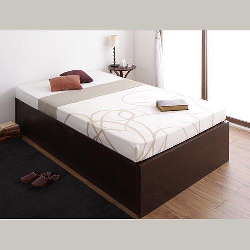 〈組立設置サービス付き〉日本製・安心の品質!ヘッドボードレス跳ね上げ式収納ベッド【RGL】(横開き) 【18】