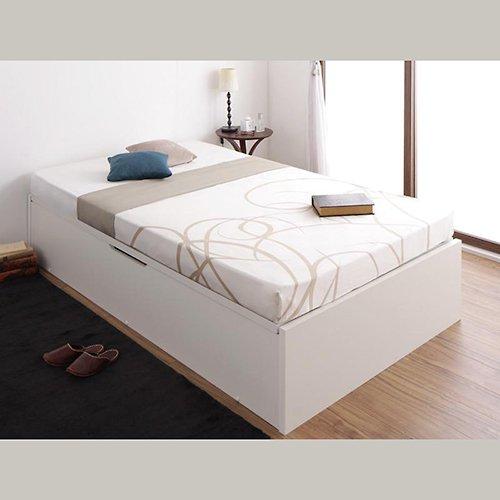 〈組立設置サービス付き〉日本製・安心の品質!ヘッドボードレス跳ね上げ式収納ベッド【RGL】(横開き) 【19】