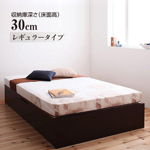 〈組立設置サービス付き〉日本製・安心の品質!ヘッドボードレス跳ね上げ式収納ベッド【RGL】(横開き) 【6】