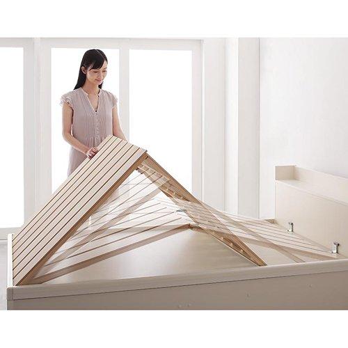 布団が干せる!跳ね上げ式大容量収納すのこベッド【LFC】(フレームのみ) 【3】