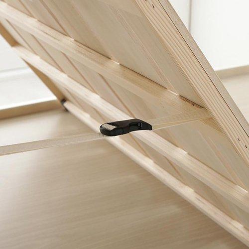 布団が干せる!跳ね上げ式大容量収納すのこベッド【LFC】(フレームのみ) 【4】
