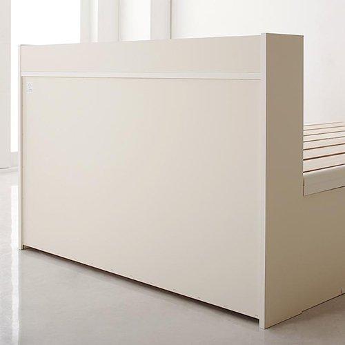 布団が干せる!跳ね上げ式大容量収納すのこベッド【LFC】(フレームのみ) 【8】