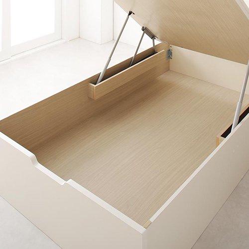 布団が干せる!跳ね上げ式大容量収納すのこベッド【LFC】(フレームのみ) 【10】