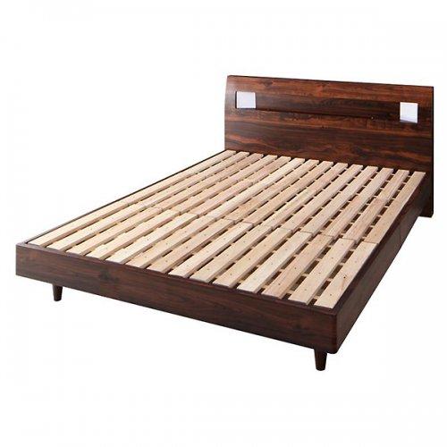 2台連結ワイドサイズで使用可能!おしゃれな木目柄のデザインデザインベッド【MBL】 【12】