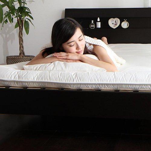 2台連結ワイドサイズで使用可能!おしゃれな木目柄のデザインデザインベッド【MBL】 【14】