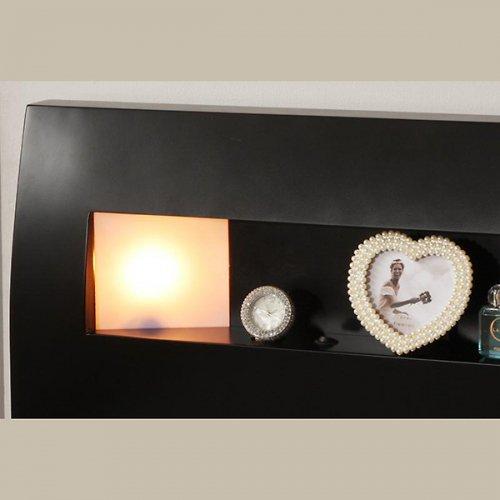 2台連結ワイドサイズで使用可能!おしゃれな木目柄のデザインデザインベッド【MBL】 【18】