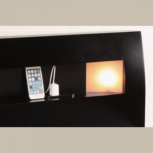 2台連結ワイドサイズで使用可能!おしゃれな木目柄のデザインデザインベッド【MBL】 【19】