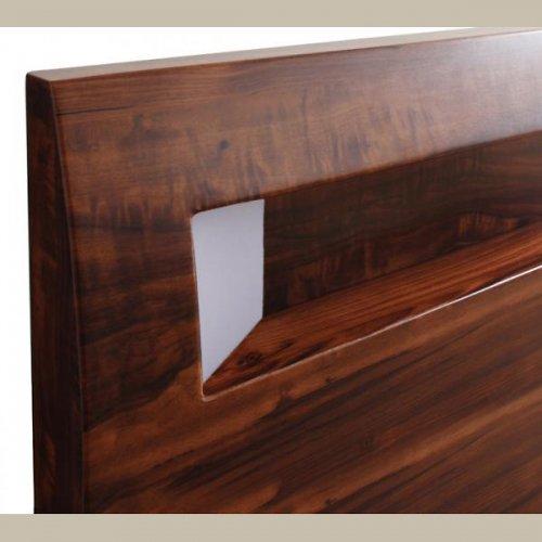 2台連結ワイドサイズで使用可能!おしゃれな木目柄のデザインデザインベッド【MBL】 【20】