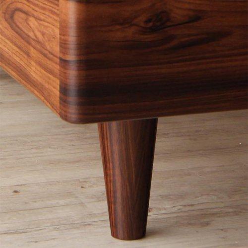 2台連結ワイドサイズで使用可能!おしゃれな木目柄のデザインデザインベッド【MBL】 【22】