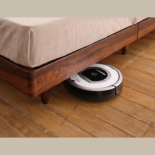 2台連結ワイドサイズで使用可能!おしゃれな木目柄のデザインデザインベッド【MBL】 【23】