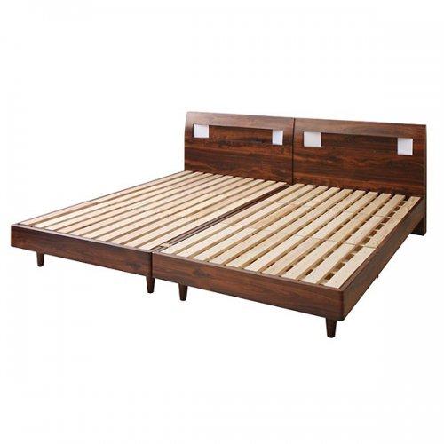 2台連結ワイドサイズで使用可能!おしゃれな木目柄のデザインデザインベッド【MBL】 【10】