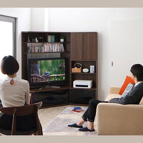 コーナー置き可能!キャビネット付きハイタイプテレビボード【GID】 【3】