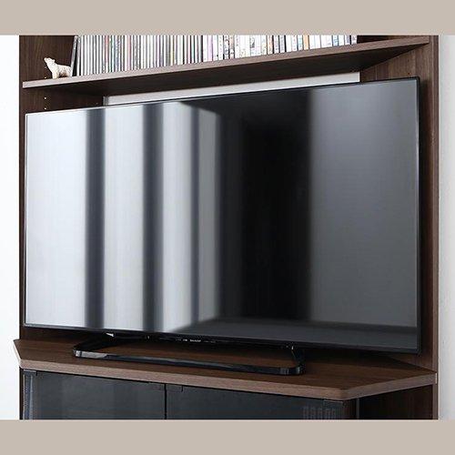 コーナー置き可能!キャビネット付きハイタイプテレビボード【GID】 【5】