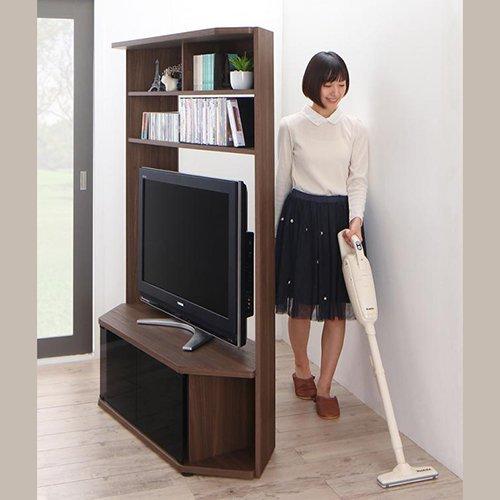 コーナー置き可能!キャビネット付きハイタイプテレビボード【GID】 【10】