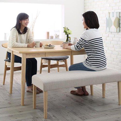 上質感のある北欧風デザイン!ダイニングテーブル5点セット【LRL】 【2】