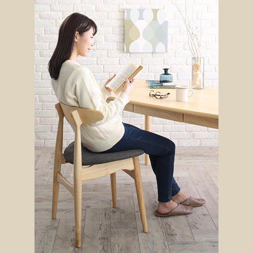 上質感のある北欧風デザイン!ダイニングテーブル5点セット【LRL】 【3】