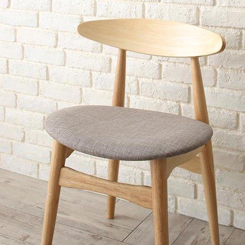 上質感のある北欧風デザイン!ダイニングテーブル5点セット【LRL】 【5】