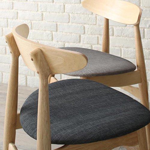 上質感のある北欧風デザイン!ダイニングテーブル5点セット【LRL】 【7】